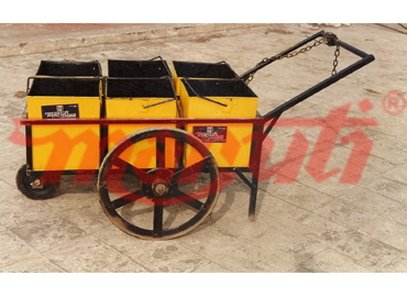 Hand Cart With Six Containers