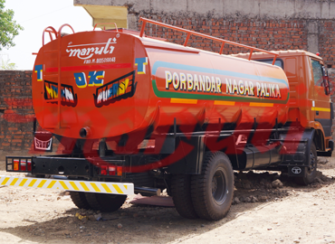 Water Tanker With Eicher